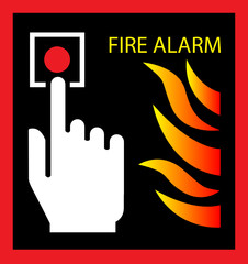 fire sign fire sign vector illustration