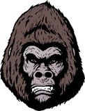 Angry gorilla in a comic book format.