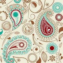 Paisley pattern in retro style