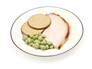 Oatcakes with Lean Turkey and Edamame Beans