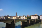 Bridge over the River Arno, Florence. poster
