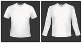 White shirts with long sleeves and polo shirt. Vector. poster