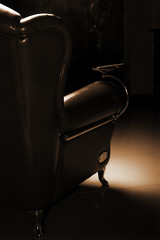 Cigar and beautiful leather armchair