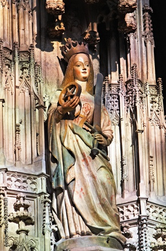 Statue of St. Catherine, Stephansdom Vienna