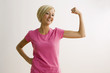 Woman Flexing Bicep