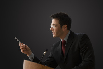 Businessman Giving a Lecturing
