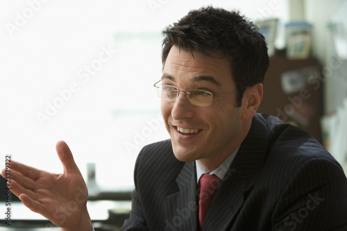 Businessman Having a Conversation