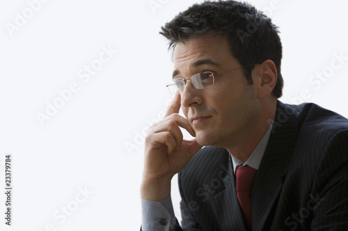 Businessman Wearing Glasses - Isolated