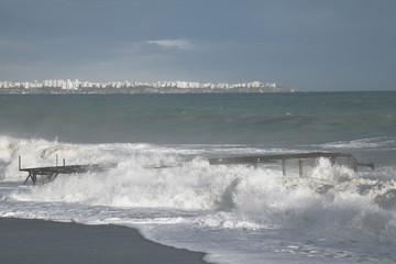 Big Waves and Old Pier