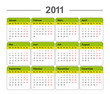 Kalender 2011 Vectorformat