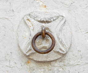 Old horse ring on the wall.