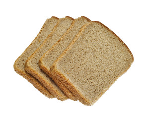 Slices of bread isolated