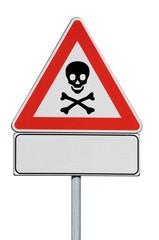 Attenzione pericolo di morte