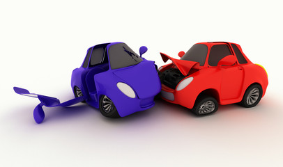 cartoon car crash