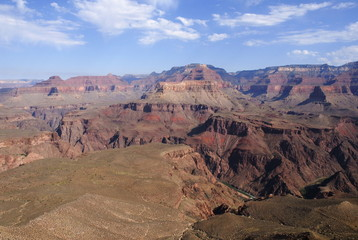 First look at Colorado river in Grand canyon from Kaibab trail