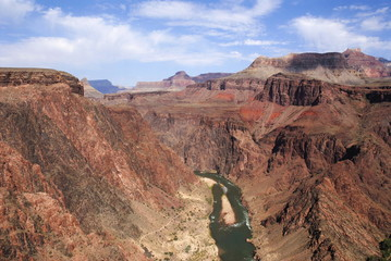 Colorado river in Grand canyon, from Kaibab trail