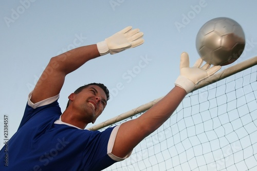 Goalkeeper Making a Save Poster