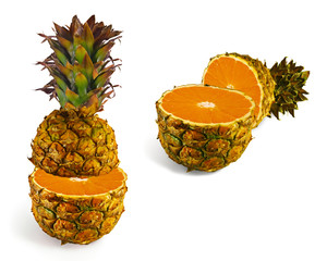 The transformation of pineapple in orange