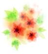 red amaryllis flowers - fresh vector illustration