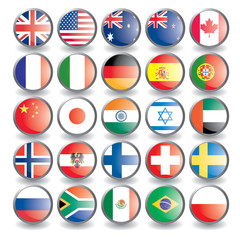 Web buttons with flags.Vector illustration eps 10.