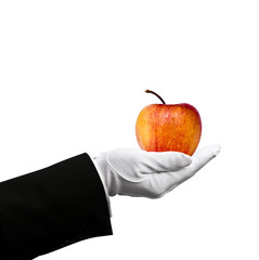 Apple in hand