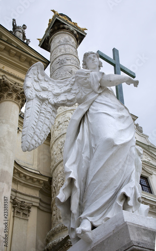 Vienna - angel for the st.Charles Boromeo church