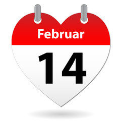 VALENTINE'S DAY calendar entry (GERMAN) (love romance)