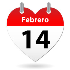 VALENTINE'S DAY calendar entry (SPANISH) (love romance)