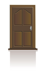 vector wooden door isolated