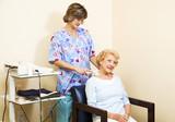 Senior Woman Gets Ultrasound poster
