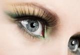 Fototapety Fashion eye, long eyelashes and beautiful eye.