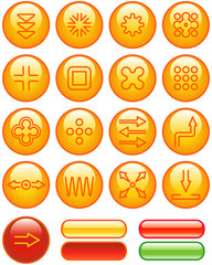 Abstract Icons Set (Vector)