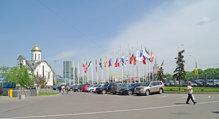 Flags of countries of participants of exhibition