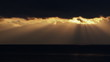 Storm clouds passing during sunset over sea. HD 1080p.