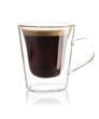 Espresso coffee isolated on white
