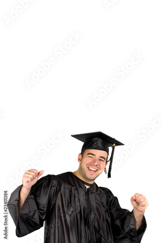 Happy Graduate Celebrating