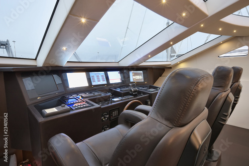 Italy, Viareggio port, luxury yacht Tecnomar 36 (36 meters)