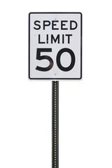 50 mph Sign
