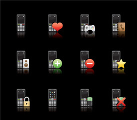 Glossy Black Series - Phone Applications (set 11)