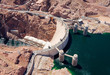 canvas print picture - Aerial view of Hoover Dam