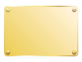 Plaque en or vissée