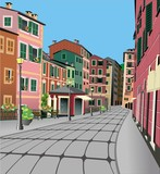 Architettura Nord Italia-North Italy Typical Architecture-Vector