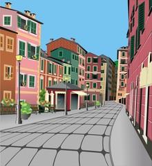 Architettura Nord Italia-North Italy Typical Architecture-Vector