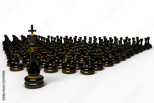 Chess army/crowd