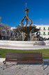 Giovinazzo Square with fountain. Apulia.