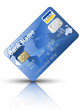 Icon of a credit card, vector