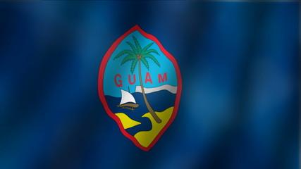 Guam - waving flag detail