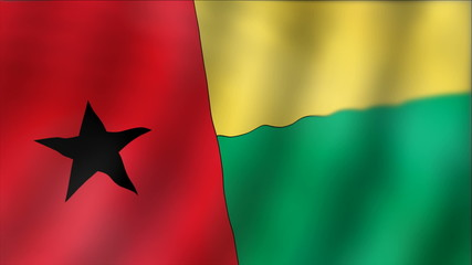 Guinea-Bissau - waving flag detail