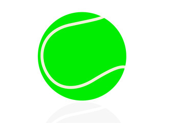 Sport illustration with a tennis ball