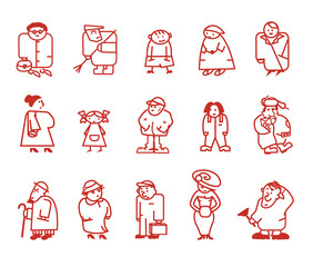 Characters. Vector illustration